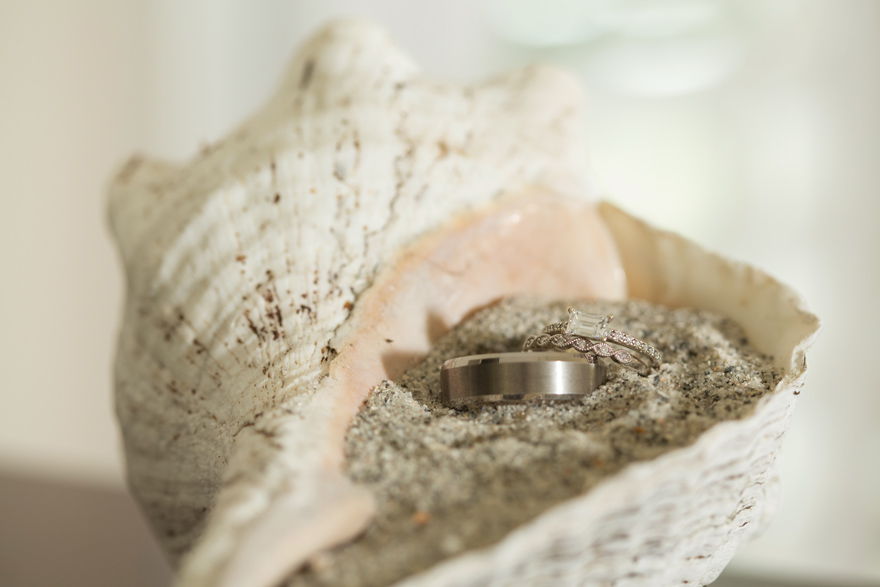 Seashell engagement rings